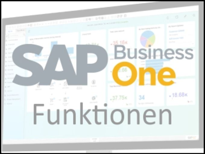 SAP Business One Funktionen